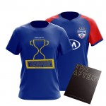 Celebration Combo! Bengaluru FC Official Home Replica 2019-20, The Afterthought & Champions T-Shirt